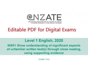 NZATE Practice Exams editable